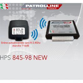 ALARME CAN BUS HPS845 PATROL LINE V.29 avec sirene sans fils HPS94